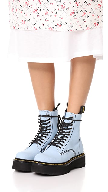 R13 Canvas Stack Boots