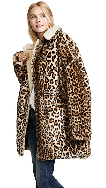 2ecdcac416 R13 Leopard Hunting Faux Fur Coat | SHOPBOP