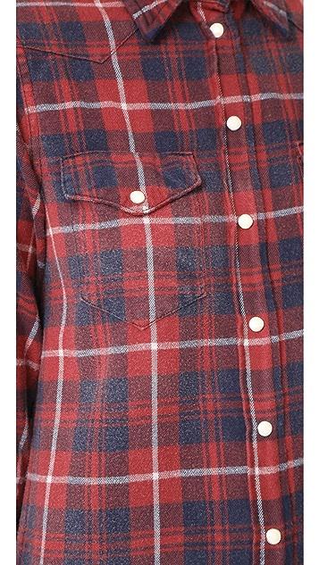 R13 Long Cowboy Shirtdress