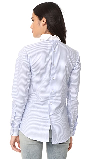 R13 Backwards Button Down Shirt
