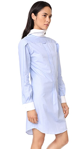 R13 Backwards Shirtdress with French Cuffs