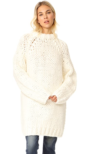 R13 Oversized Chunky Fisherman Sweater