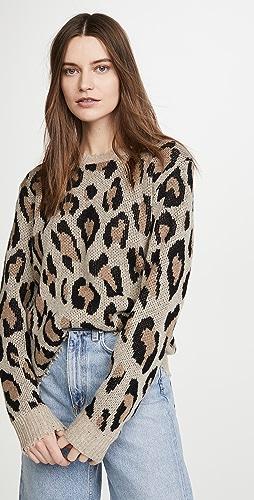 R13 - 豹纹开司米羊绒毛衣