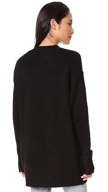 R13 Oversized Crew Sweater