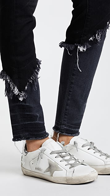 R13 Alison Double Shredded Skinny Jeans