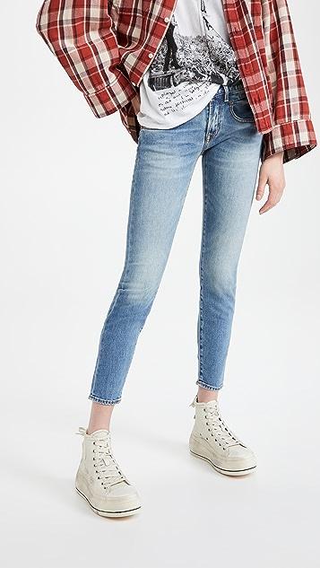 R13 男友风格紧身牛仔裤
