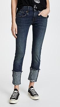 Boy Skinny Jeans with Cuffs