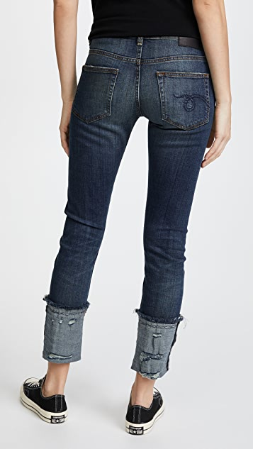R13 Boy Skinny Jeans with Cuffs