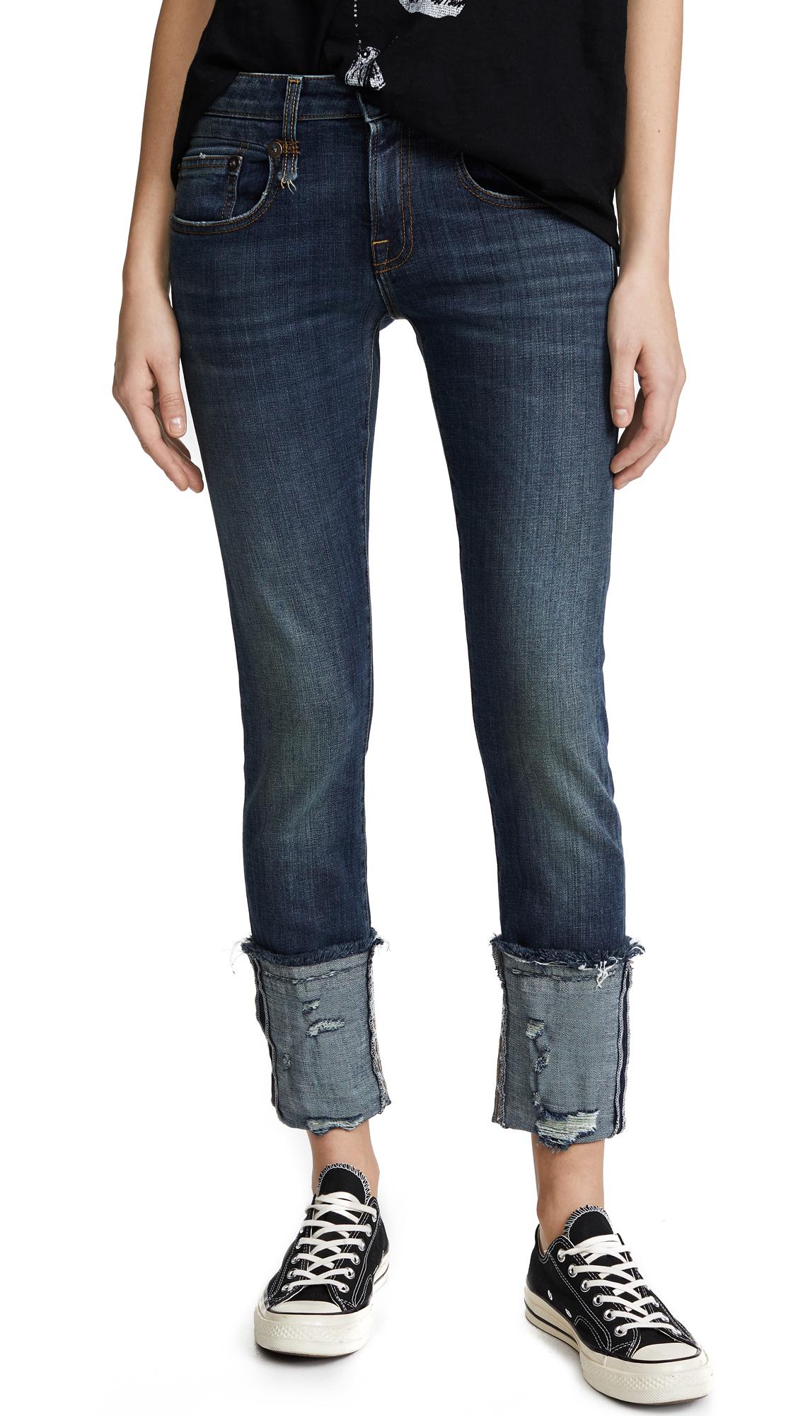 R13 Boy Skinny Jeans with Cuffs