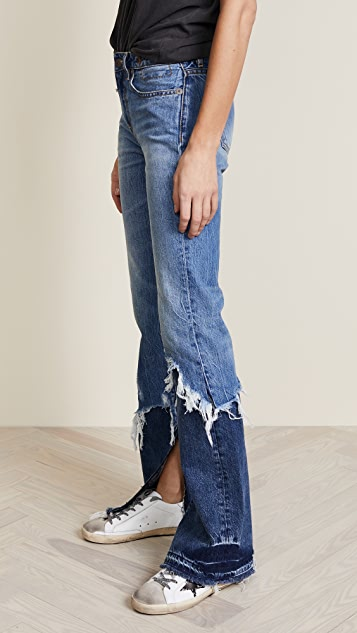 R13 Vent Kick Double Shredded Jeans
