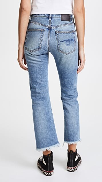 R13 Bowie High Rise Straight Jeans