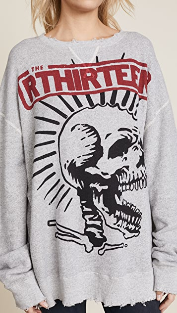 R13 Exploited Punk Oversized Sweatshirt