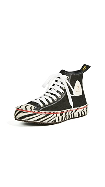 R13 Canvas High Top Sneakers