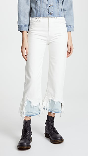 R13 Camille Shredded Jeans