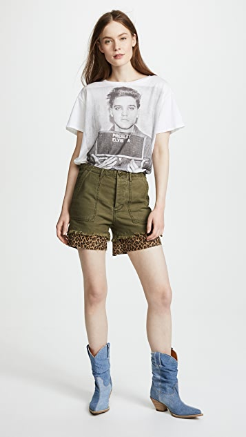 R13 Leopard Utility Camp Shorts