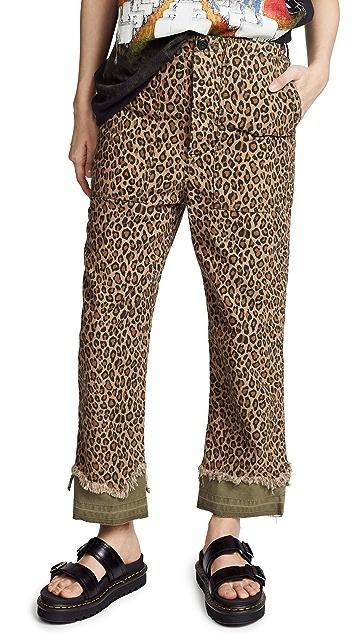 R13 Irregular Hem Utility Pants