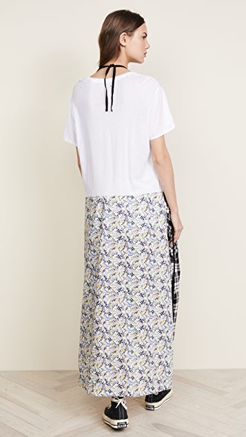 R13 Apron T-Shirt Dress