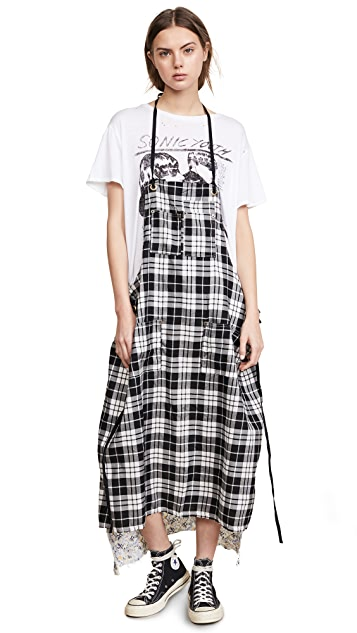 R13 Apron T-Shirt Dress