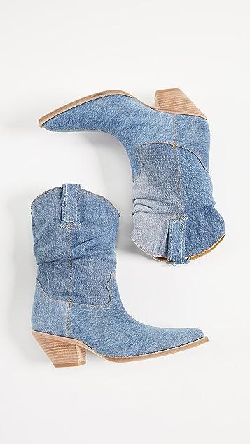 R13 Low Crunch Cowboy 靴子