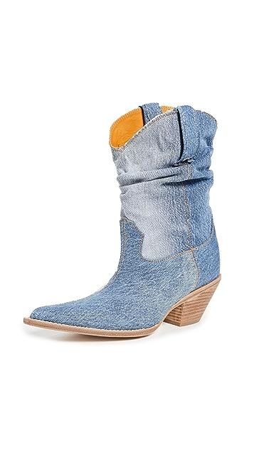 R13 Low Crunch Cowboy Boots