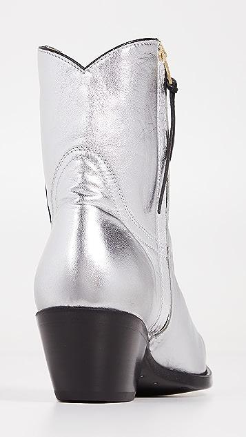 R13 Cowboy Ankle Boots