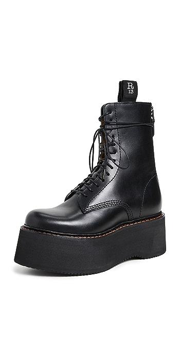 R13 Combat Stack Boots - Black