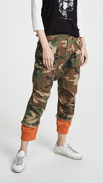 R13 Camo Harem Cargo Pants