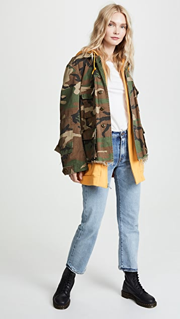 R13 Camo Abu Jacket with Long Hoodie