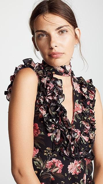 R13 Ruffle Slit Dress