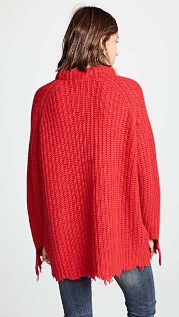 R13 Distressed Cashmere Fisherman Sweater
