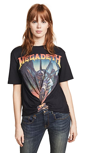 R13 Megadeth Twisted Front Tee