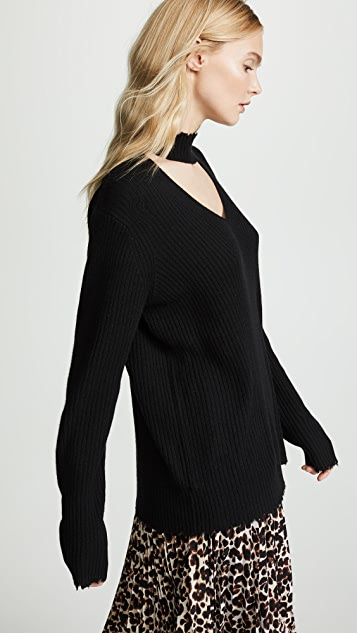 R13 Choker Cashmere Sweater