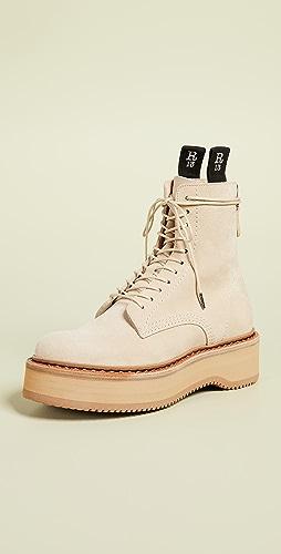 R13 - Single Stack 绒面革靴子