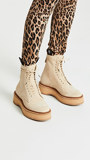 R13 Single Stack Suede Boots