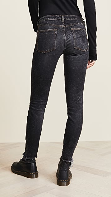 R13 Alison Skinny Jeans with Uneven Hem