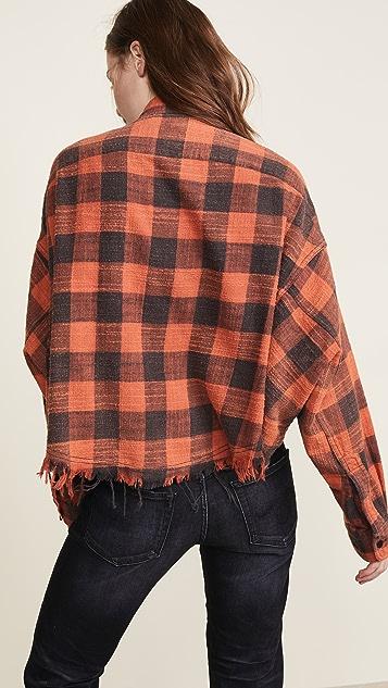 R13 Укороченная офисная рубашка