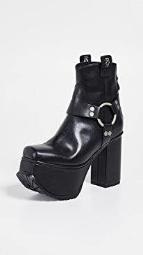 Ankle Harness Platform Boots