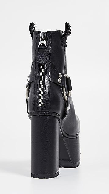 R13 Ankle Harness Platform Boots