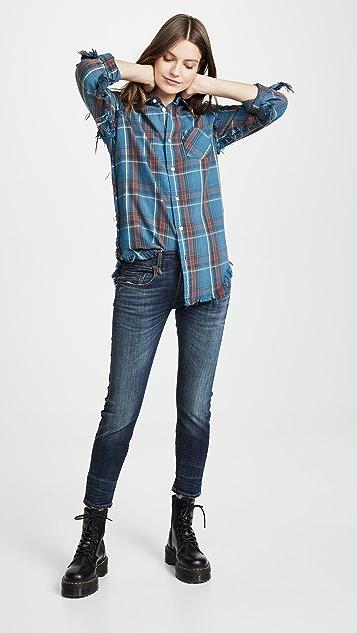 R13 Мешковатые джинсы в стиле до колен