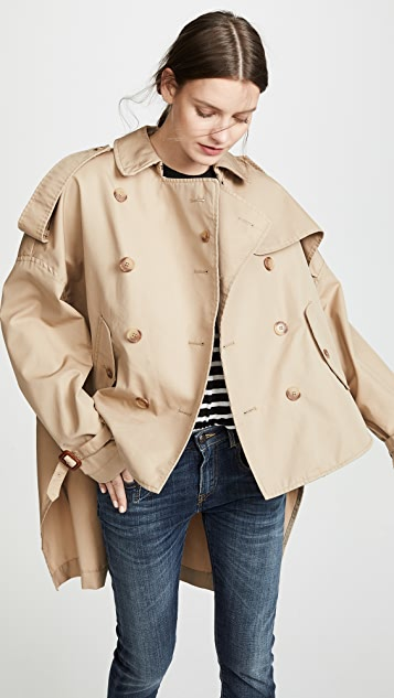 R13 Tuck In Trench Coat