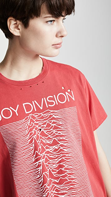 R13 Футболка в мужском стиле Joy Division