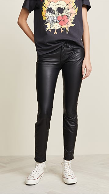 R13 Alison Skinny Leather Pants