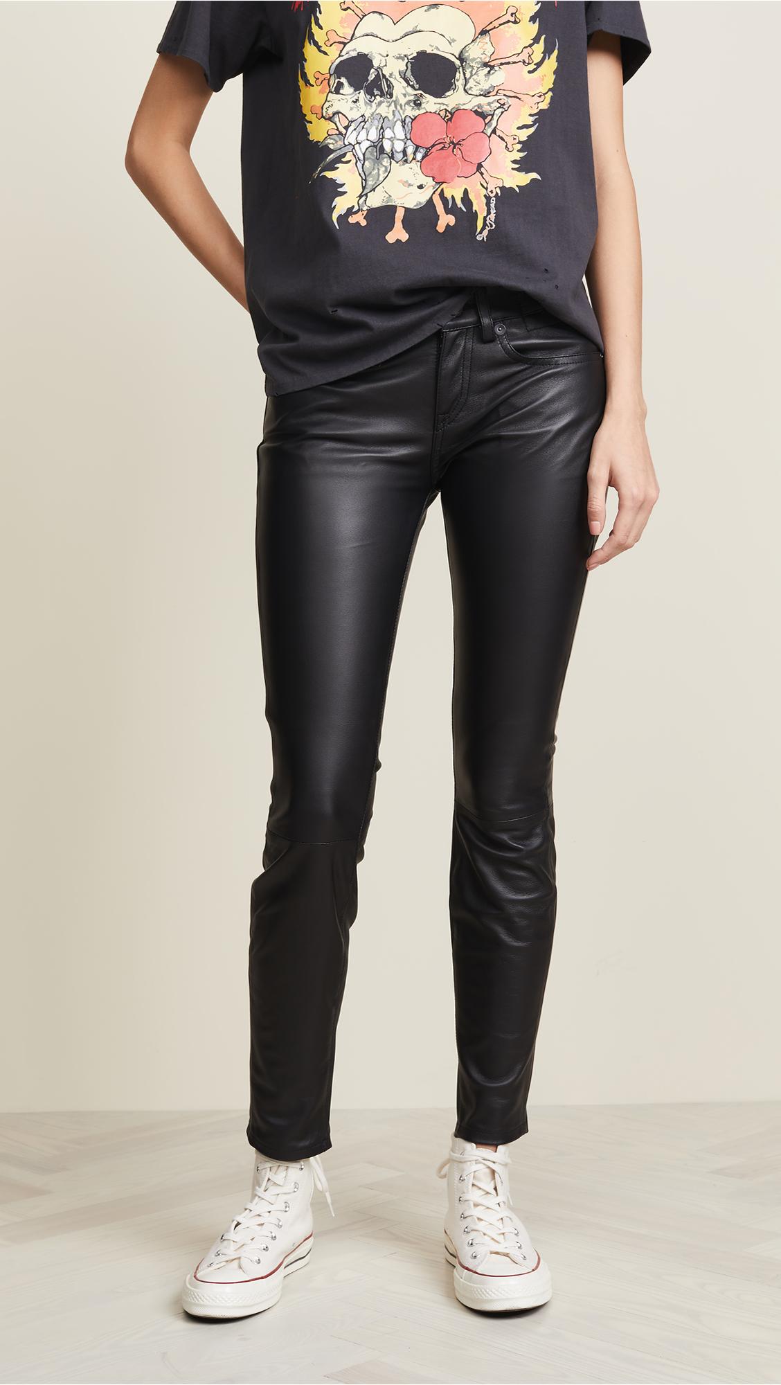 R13 Alison Skinny Leather Pants