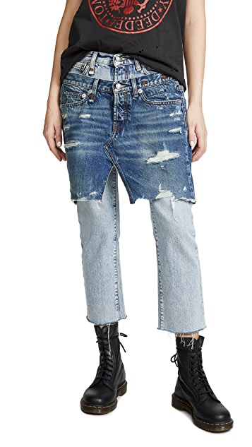 R13 Double Front Jeans