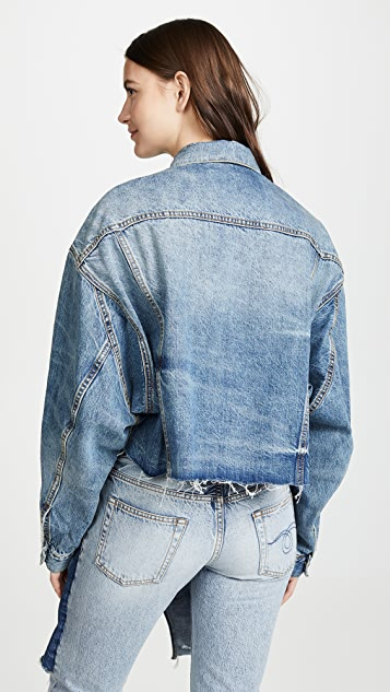 R13 Coats Cropped Oversized Trucker Jacket