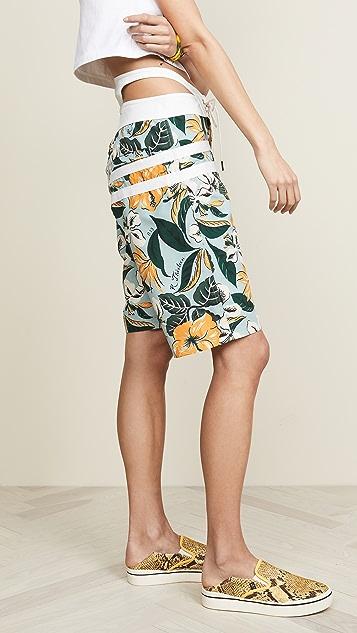 R13 Horizontal Stripe Surf Shorts