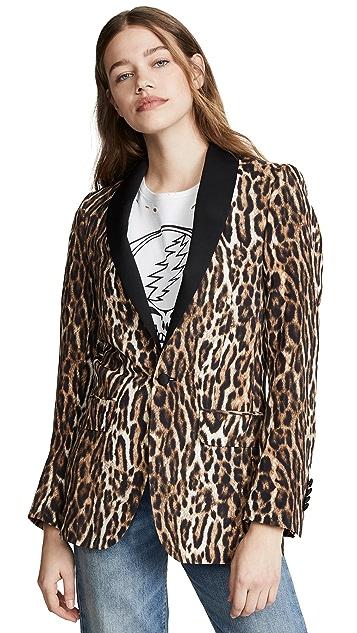 R13 Жакет в стиле смокинга с лацканами с воротником-шалью