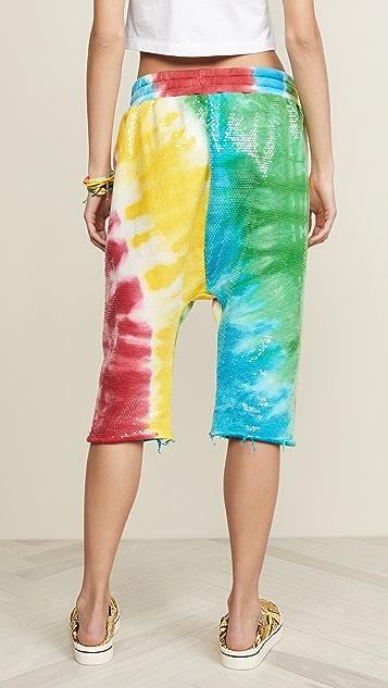 R13 Sequin Tie Dye Sweatshort