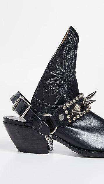 R13 Ковбойские ботинки до половины длины