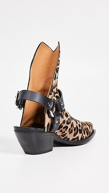 R13 饰带牛仔靴